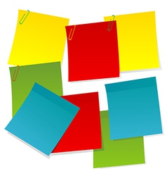 Sheets of paper in different colors vector image