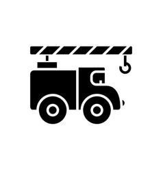 crane car icon black sign on vector image vector image