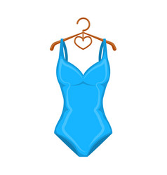 monotone blue swimsuit for girls bathing clothes vector image vector image