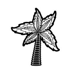 palm tree symbol vector image vector image