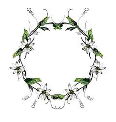 Passiflora white wreath2 vector image vector image