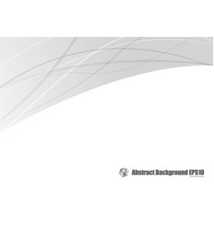 Abstract gray curve background vector