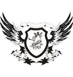 heraldry retro shield vector image
