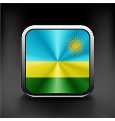 Rwanda flag national travel icon country symbol vector image vector image