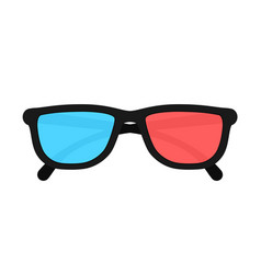 3d glasses isolated on background vector image