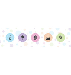 5 party icons vector