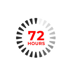 72h color icon and time concept vector