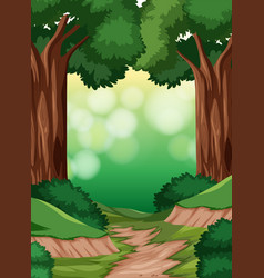a simple forest scene vector image
