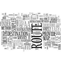 Aa roadfinder text word cloud concept vector