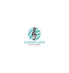 Academy music logo design vector
