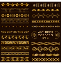 Art Deco Vintage Borders and Design Elements vector image
