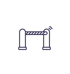 automatic gate icon line vector image