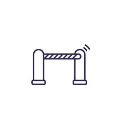 Automatic gate icon line vector