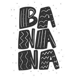 Banana hand drawn sticker vector