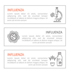 Banner flu prevention vector
