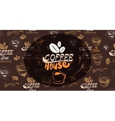 Banner for coffee vector