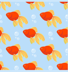 Beautiful seamless pattern with colorful sea vector