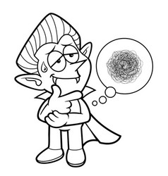Black and white dracula mascot a hard problem vector