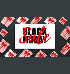 black friday holiday sale decoration elements vector image