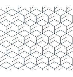 Black line pattern on white seamless backdrop vector