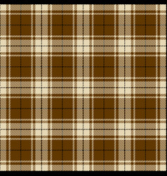 Brown white and black plaid vector