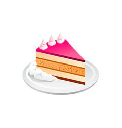cake realistic isolated on white vector image