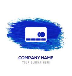 cassette icon - blue watercolor background vector image