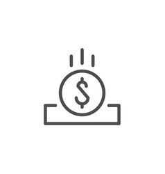 Coin slot line icon vector