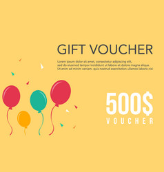 collection stock gift voucher design vector image