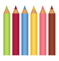 colorful pencils for drawing school or office vector image