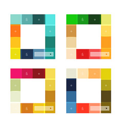 colorful stripes infographic templates set vector image