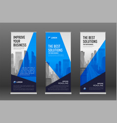 Construction roll up banner design templates set vector