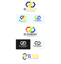 Dd technology logo vector