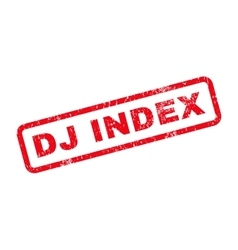 Dj Index Text Rubber Stamp vector