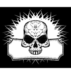 Drawn skull vector