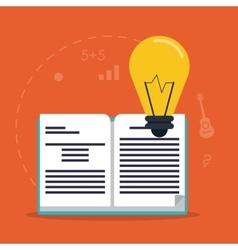Education learning school book bulb design vector