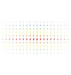 Electric bolt spectrum halftone grid vector