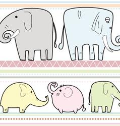 Elephant pattern b vector