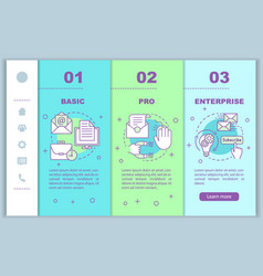 Email marketing subscription onboarding mobile vector