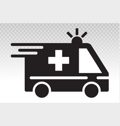 Emergency ambulance truck services flat icon vector