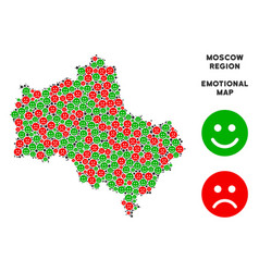 Emotion moscow oblast map mosaic of emojis vector