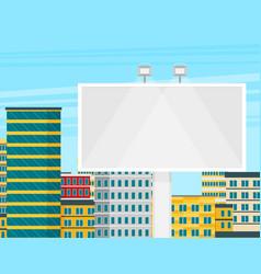 empty urban big board or billboard with lamp vector image