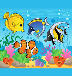 Fish theme image 3 vector