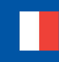 flag of france flag with official colors vector image