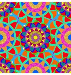 Geometric multicolor fractal mandala seamless vector