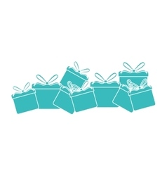Gifts presents card icon vector