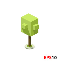 green tree isometric vector image