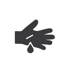 hand cut icon vector image