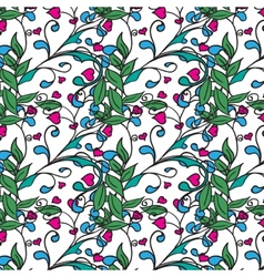 Hand drawing floral background Seamless pattern vector