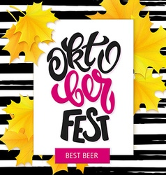 hand drawn oktoberfest lettering sale label with vector image